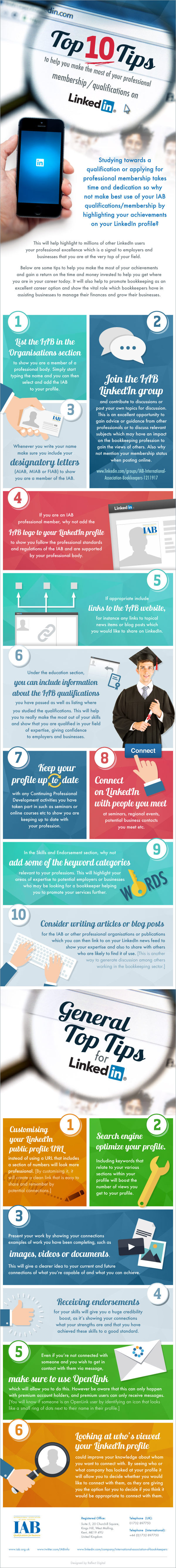 Top LinkedIn tips - infographic by IAB